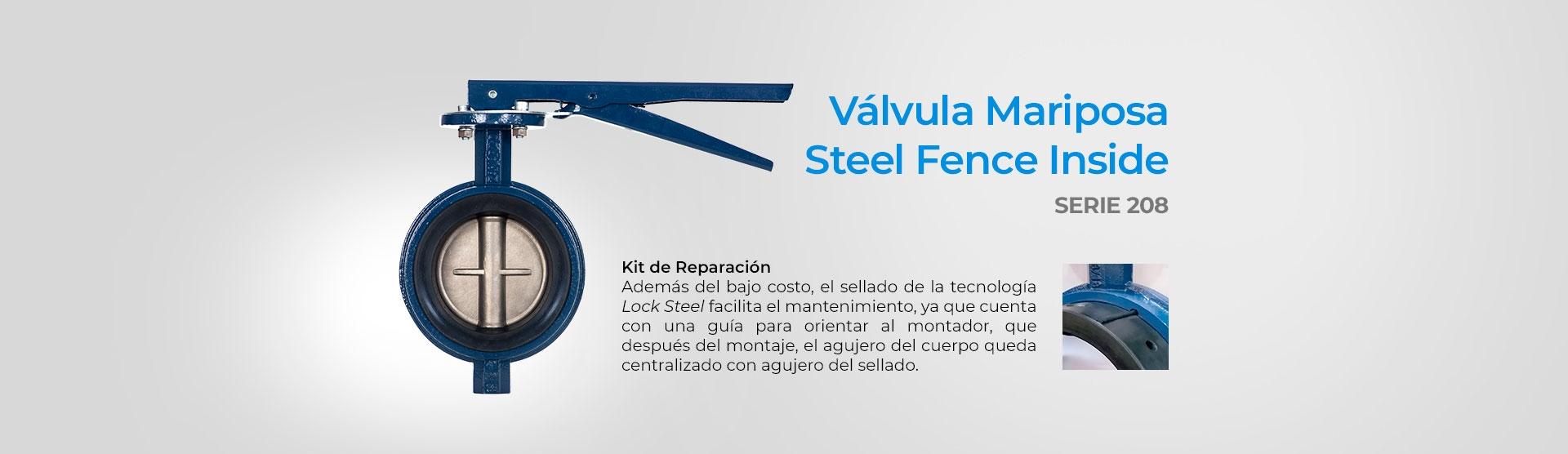 Válvula Mariposa Steel Fence Inside (Serie 200)
